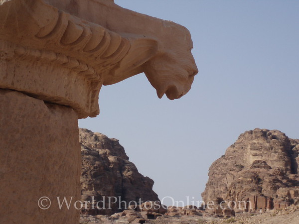 Petra - Great Temple - Ram Head Ornament