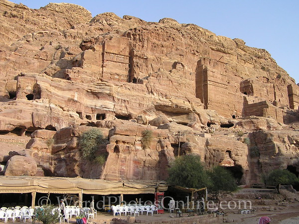 Petra - Royal Tombs with shops