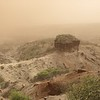 Oldupai Gorge in sand storm