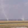 Amboseli plains dust devils