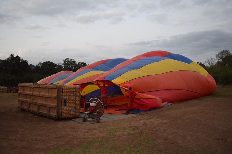 Getting the ballon ready
