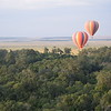 Floating over the trees on the Mara
