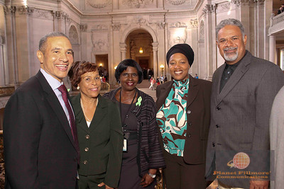 Harlan Kelly, GM SF PUC, Commissioner King, Ms. Brenda Jones, SEFC Commissioner Grier, Tommy Mowala AGM SF Water Power Sewer- Photo by Planet Fillmore Communications 2014