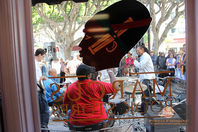 Fillmore Jazz Festival 2013 from the window of Marcus Bookstore