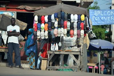 Vendeur de casquettes