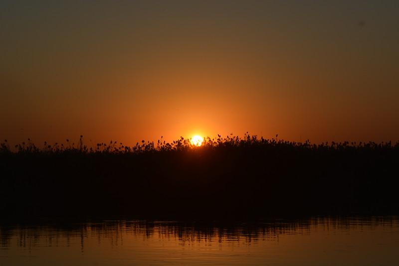 Sunset, Okavango River Near Shakawe, Botswana