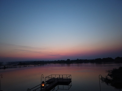 Sunset Zambesi River, Zambia side