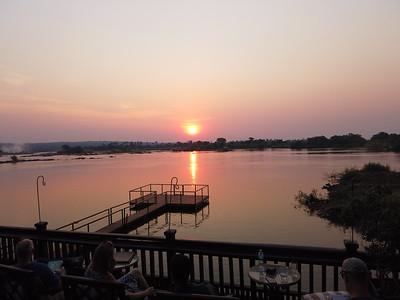 Sunset Zambezi River, Zambia side