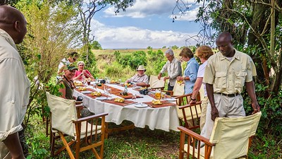 Lunch is better on safari...