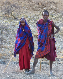 Masai Couple near the  Ngorongoro Conservation Area-Tanzania