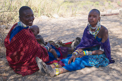 Masai Women in Traditional Dress in Tanzania