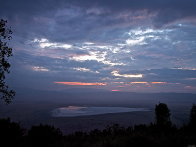 Sunset from the rim of the Ngorongoro Crater, Tanzania