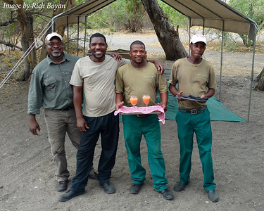 Our Safari Hosts - Nkosi, BD, Life and Alec.