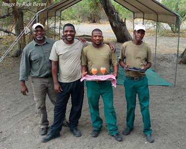 Our Safari Hosts - Nkosi, BD, Life and Alec.