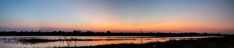 Waterhole at Sunset (Panorama)