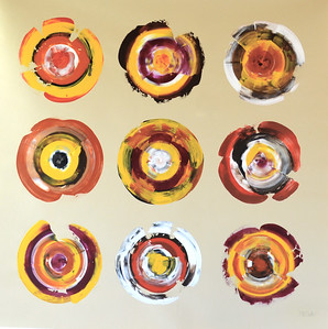 Nine circles-Iorillo, 50x50 painting on canvas JPG