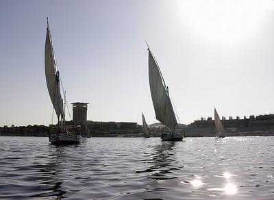 Faluccaer på Nilen ---------------------- Faluccas on the Nile (Foto: Ståle)