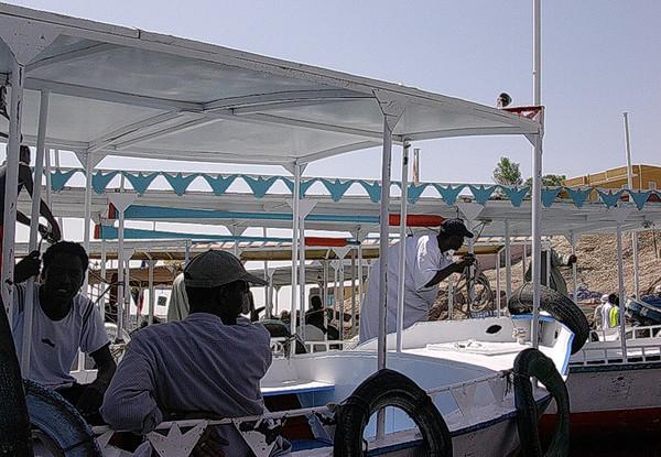 Turistbåter i Aswan New Port ----------------------------------- Tourist boats in Aswan New Port (Foto: Ståle)