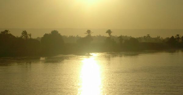 Solnedgang over Nilen (Foto: Ståle)