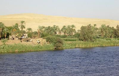 Landsby ved Nilens bredd (Foto: Ståle)