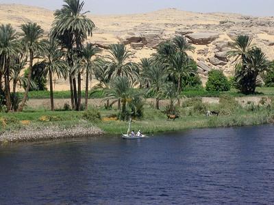 Fiskebåt ved Nilens bredder (Foto: Ståle)