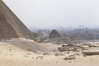 Kairo sett fra Keopspyramiden (Foto: Ståle)