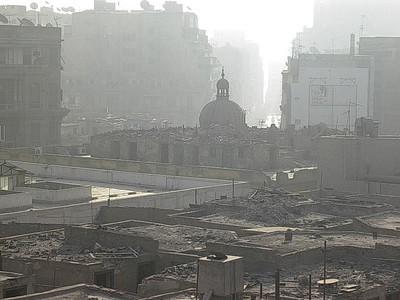 Takforfall i Kairo sentrum (Foto: Ståle)