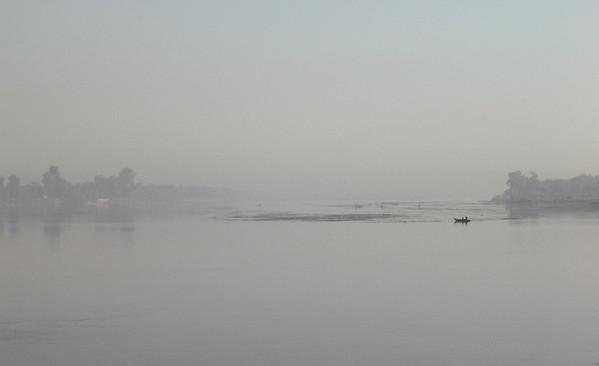 Morgen på Nilen ved Luxor (Foto: Ståle)
