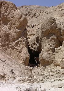 Sandsteinskøft ved Hatsepsuts tempel (Foto: Ståle)