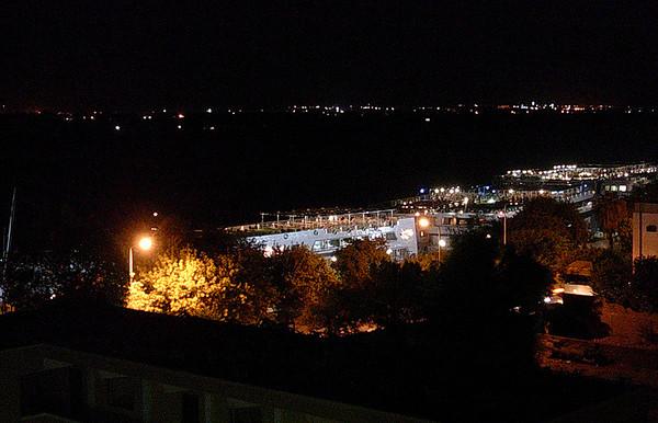 Kveldsutsikt over Nilen fra takterassen til Windsor Hotel (Foto: Ståle)