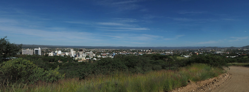 Panorama over Windhoek. Foto: Geir