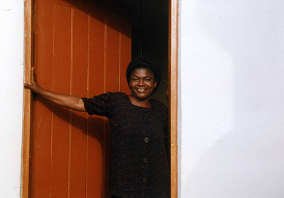 Grace made shure we were taken care of at the Folk Technical College, Ikwo. --- Grace sørget for at vi ble godt tatt vare på under oppholdet på Folk Technical College, Ikwo. (Foto: Geir)