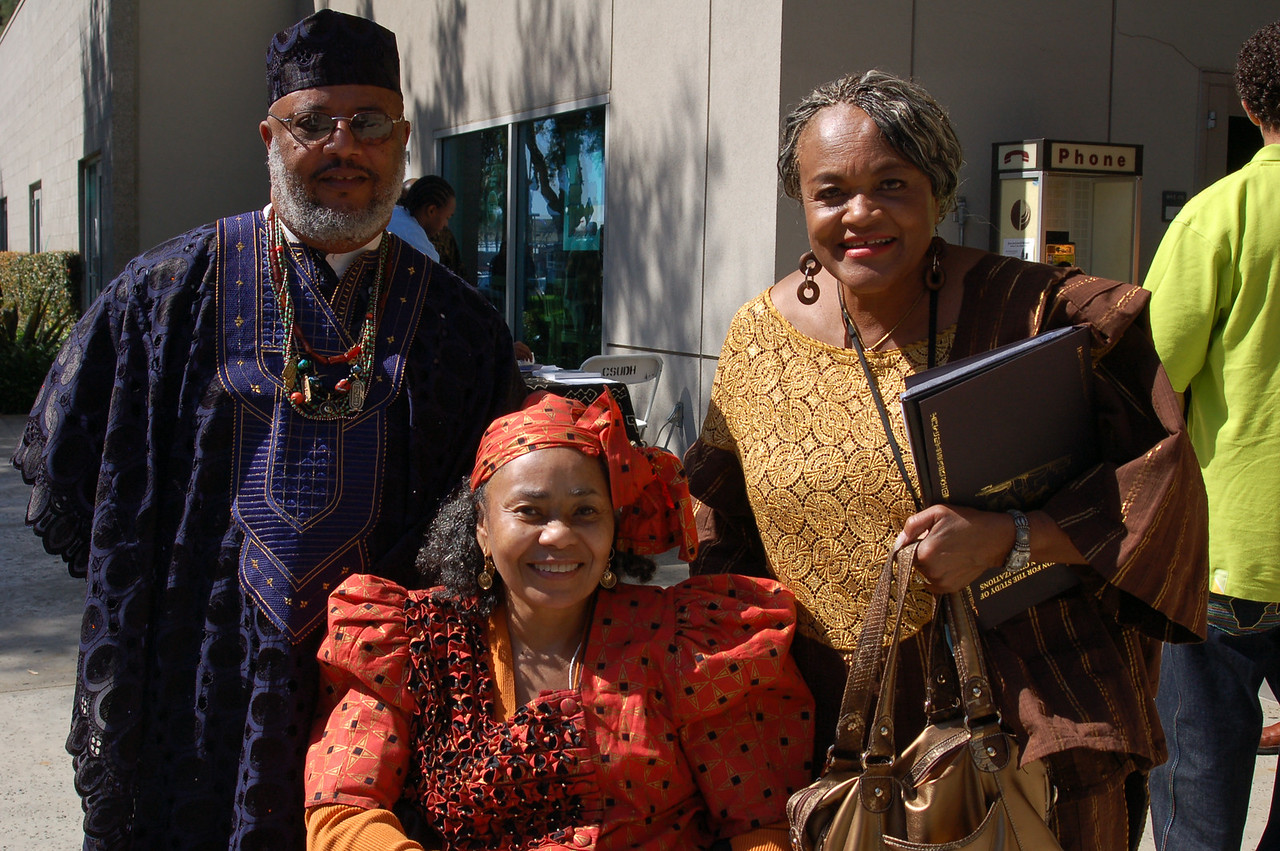 Dr. Wade Nobles and his wife (seated) with Patsy Jo Hilliard.<br /> <br /> Photo copyright Kwaku Person-Lynn, PhD