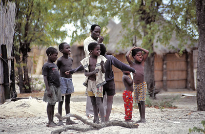 Enfants du delta d'Okavango