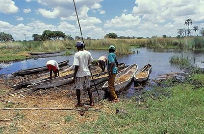 Delta d'Okavango - Pirogues mokoro