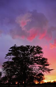 Coucher de soleil à Maun
