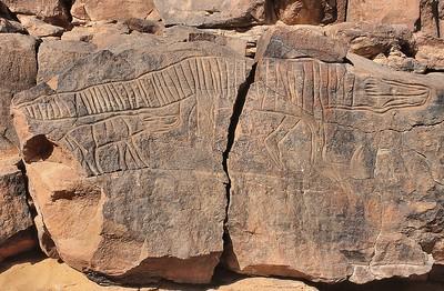 Mathendous - Gravures rupestres