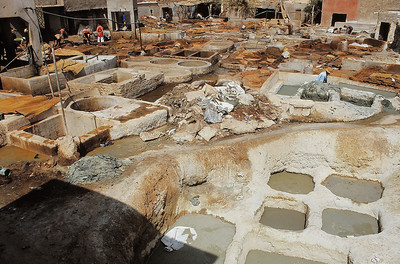 Marrakech - Les tanneries - مراكش