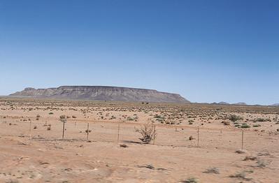 Transition dans le désert du Kalahari