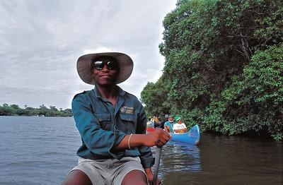 En canoë sur le Zambèze