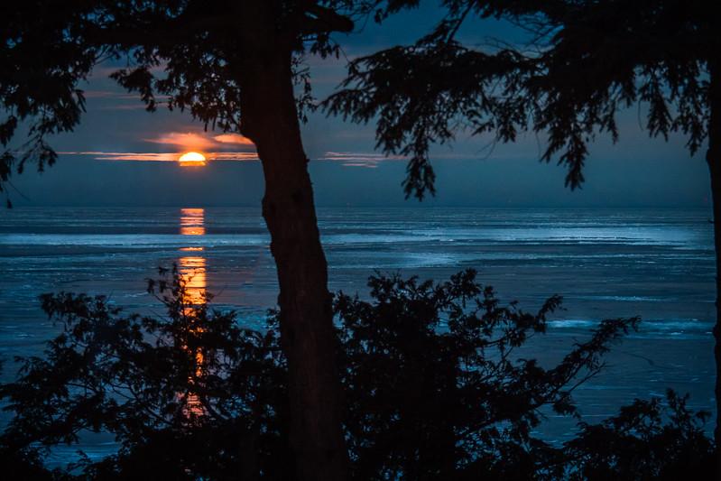 Moonset Reflection