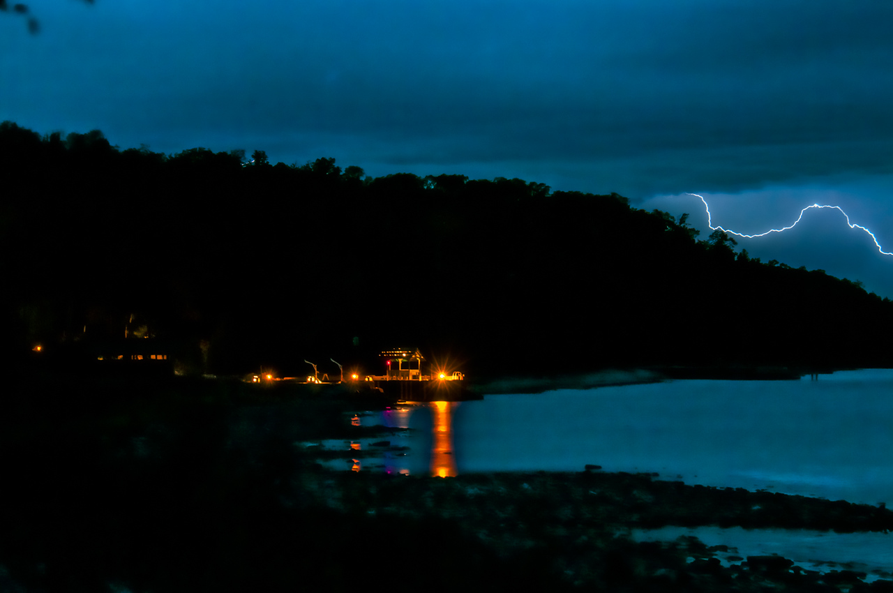Lightning Bolt Over Garrett Bay