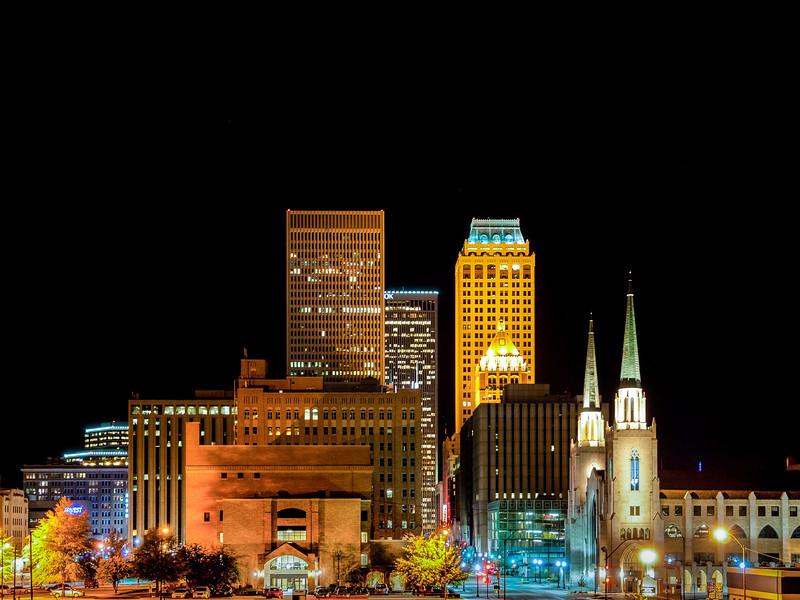 Tulsa Oklahoma At Night