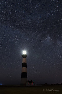 Milky Way at Bodie Island Lighthouse (NC, 2017; 4:52 EDT)