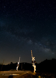 Star-crossed: Milky Way over RR Crossing Gates, Wingina