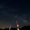 Star-crossed: Milky Way over RR Crossing Gates, Wingina