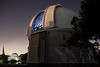 Astronomical Observatory with open dome, backdrop of stars, McClean Dome, Observatory, Cape Town