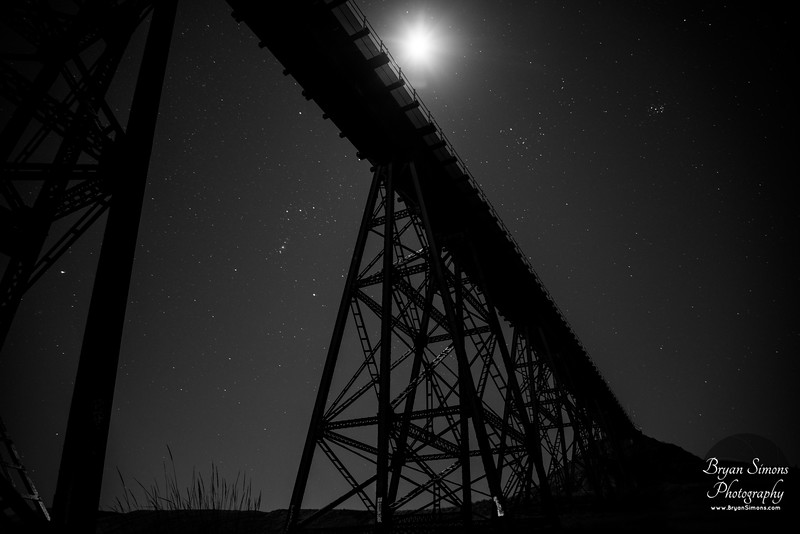 Under the Bridge with the Moon