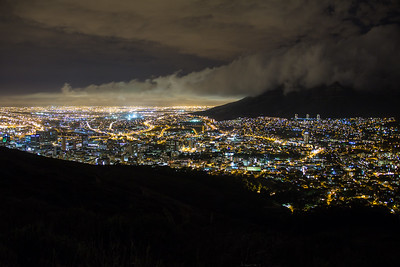 Cape Town City Lights, from Signal Hill