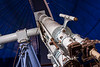 Astronomical telescope pointed at stars, open dome, Victoria Telescope, McClean Dome, Observatory, Cape Town